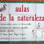 Aulas de la Naturaleza. Rótulos cerámica