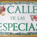 """Rótulo """"Calle de las especias"""". Rótulos cerámica"""
