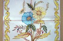 Murales-cuadros de flores. Cerámica esmaltada