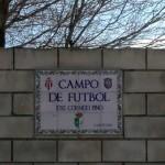 Rótulo cerámico Campo de Fútbol La Lantejuela Sevilla