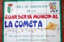 """Rótulo """"Guardería Municipal La Cometa"""". Rótulos cerámica"""