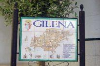 Rótulo cerámica. Plano del pueblo de Gilena