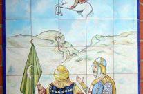 Moros y cristianos. Mural cerámica
