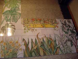 Mural para porche decoraci n cer mica cer mica - Murales de ceramica artistica ...