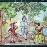 Mural cerámica patio