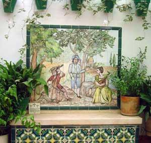 Mural cer mica patio cer mica art stica matilde - Murales de ceramica artistica ...