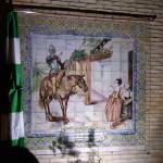 Restauración cerámica de mural del Quijote