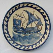 Plato. Motivo barco. Epoca medieval