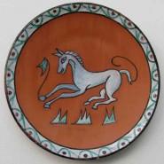 Plato. Motivo caballo. Epoca andalusí