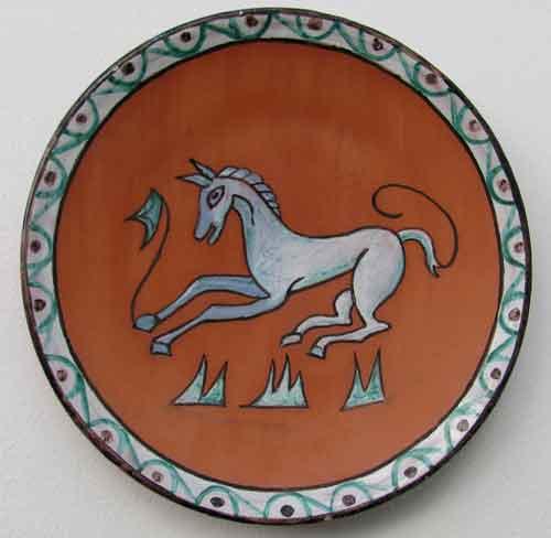 plato caballo