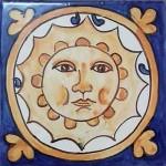 Azulejo serie círculo. Sol