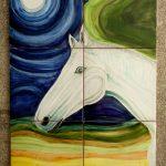 Mural de caballo con luna