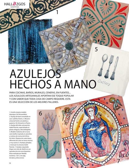 best cermica decorativa matilde cermica en revistas de decoracin with revistas espaolas de decoracion