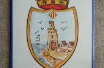 Rótulo con escudo