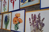Azulejos de plantas para fachada.