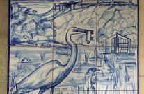 Mural en azul cobalto