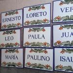 Ubicación de murales y azulejos
