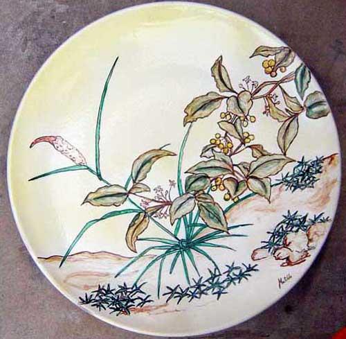 Platos cer mica art stica matilde - Platos de ceramica ...