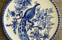 Plato azul cobalto