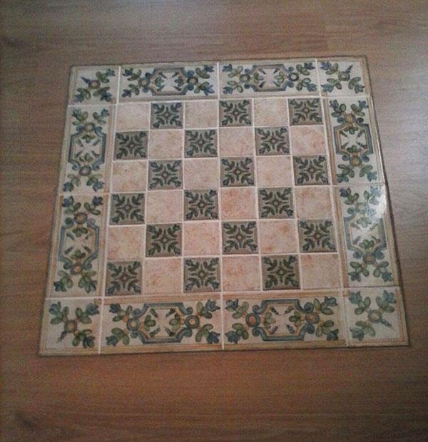 Azulejos rsticos azulejos incrustados en suelo de madera - Suelos de ceramica rusticos ...
