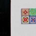 Decoración de exteriores con azulejos vintage