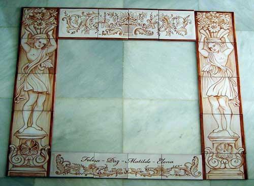 Cenefas pintadas a mano cer mica art stica matilde - Cenefas para espejos ...