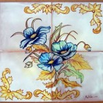 Cuadro de flores azules