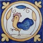 Azulejo serie círculo. Gallo