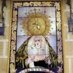 Virgen de los Dolores. Retablo religioso en cerámica